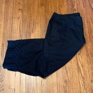 Black Pants with Eyelet